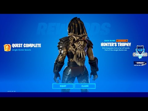 How to unlock FREE Predator Hunter's Trophy Back Bling in Fortnite - Complete a Bounty as Predator