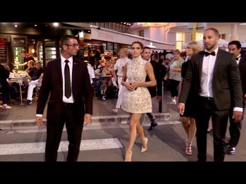 EXCLUSIVE : 2016 Miss Universe Iris Mittenaere walking down the Croisette in Cannes