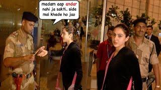 Video Sara Ali Khan's Most EMBARASSING Moment As Security STOPS Her From Entry @Mumbai Airport MP3, 3GP, MP4, WEBM, AVI, FLV Oktober 2018