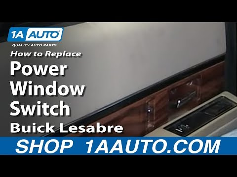 How To replace Install Fix Rear Power Window Switch 1992-99 Buick Lesabre