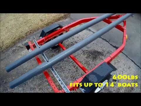 Trailer with kayak conversion yak fish camp for Harbor freight fishing cart