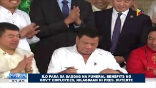 EO para sa dagdag na funeral benefits ng Government employees, nilagdaan ni Pangulong Duterte For more news, visit:...