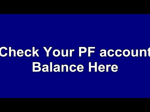 how to know the pf balance