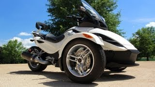 9. SOLD !! 2010 CAN AM SPYDER RSS SE5 SEMI AUTOMATIC WHITE USED FOR SALE SEE WWW SUNSETMILAN COM
