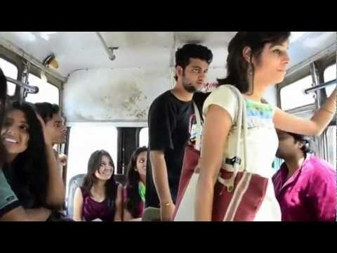 What Girls and boys Doing in bus