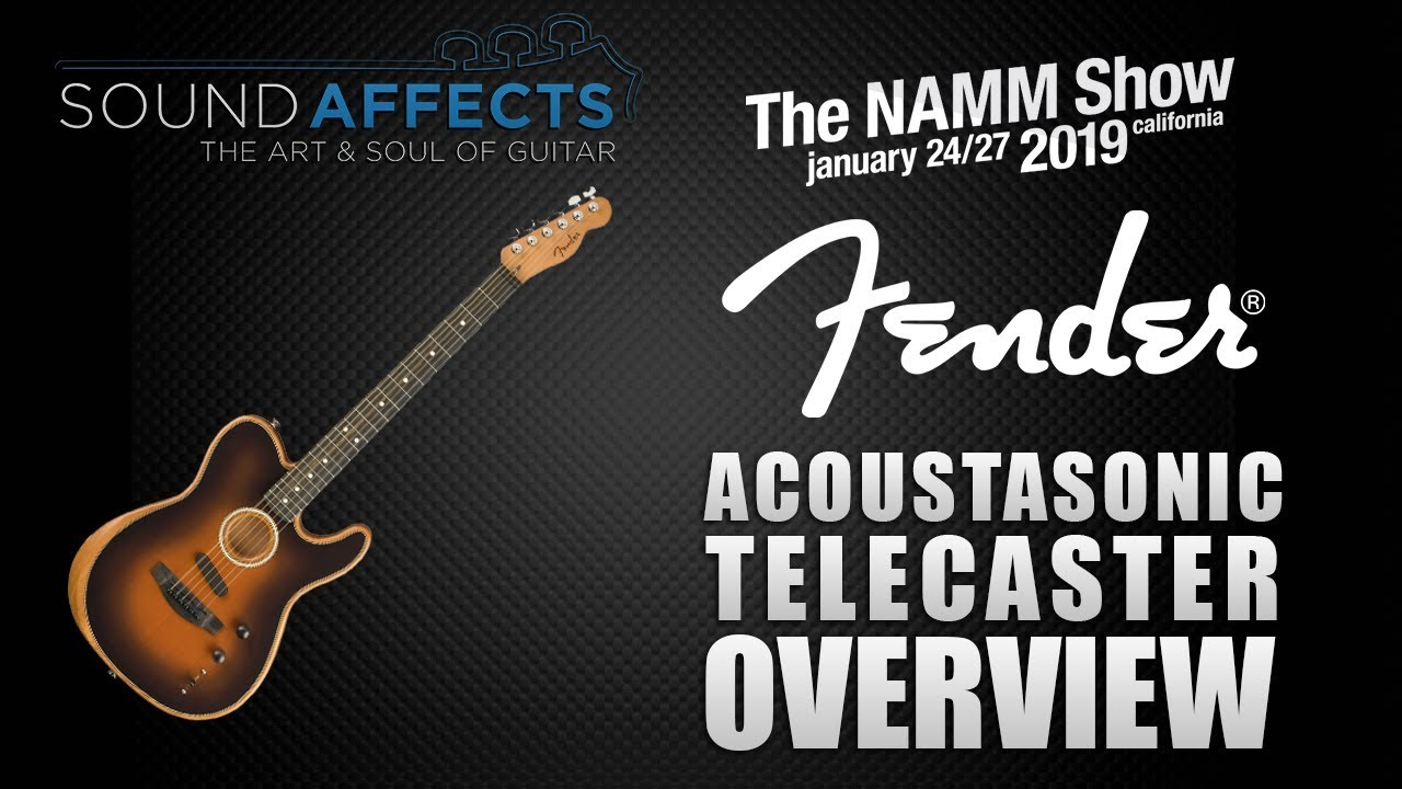NAMM 2019: Fender Acoustasonic Telecaster Hybrid Electric/Acoustic Guitar Overview