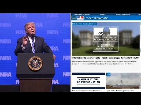 Frankreich verurteilt Trump-Äußerung zu Paris-Terro ...