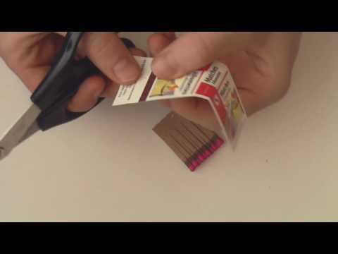 Making A Fuse Out Of A Book Of Matches - HD