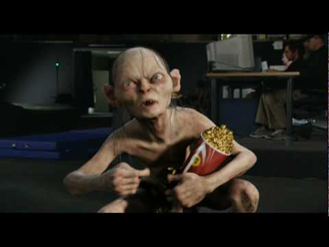 I can't believe I had never seen this, and I assume I'm not alone. LOTR's Gollum receives MTV Award and holds a hilarious speech.
