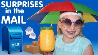 """With these cool new shades, umbrella hat and pineapple drink holder, Alyssa looks like she's ready for a vacation, don't you think?!  Huge thank you for all the amazing things our fans have sent us!  The kids have just LOVED the t-shirts you guys sent to them.  They have asked to wear them as soon as they are washed, simply because they know one of their fans picked it out and sent it to them.  (You may have already even seen them wearing them in some of our videos, too!)  Owen has been looking so cute in the outfits he got as well!  As always, we are humbled and thankful for each and every one of you who watches us, and for all of you who take the time to mail us something to show us your love.  We love you, too!  Thanks for watching!  Don't forget to give us a THUMBS UP! Please subscribe to our channel & the kids' channels!http://bit.ly/FFPSubscribehttp://bit.ly/AlwaysAlyssaSubscribehttp://bit.ly/SubDudeItsDavidhttp://bit.ly/SubTwinTimehttp://bit.ly/SubMichaelsMPWant to send fan mail?  You can find our address in our """"about"""" section here on YouTube.Find pictures, updates, and more about Family Fun Pack: Facebook: http://bit.ly/FamilyFunFBTwitter: http://bit.ly/FamilyFunTwitterInstagram: http://bit.ly/FamilyFunIGMatt's Instagram: http://bit.ly/DaddyFunPackIGMatt's Twitter: http://bit.ly/DaddyFunPackAlyssa's Instagram: http://bit.ly/2dLKBE6David's Instagram: http://bit.ly/2dsNQAmZac's Instagram: http://bit.ly/2dL1JocChris' Instagram: http://bit.ly/2dL34vVMichael's Instagram: http://bit.ly/2cTen8zNew videos posted daily! Challenges, Epic Road Trips, Vlogs, Toys,  Clothes, Food, and lots of other fun things!  Family Fun Pack is a family of 6 kids: Alyssa, David, Zac & Chris, all born within 39 months of each other.  After those four, we had our precious son Michael and then our sweet new baby Owen!  Our motto is """"fun with the family, every day""""! We like to do videos with Play Doh, Costumes, Superheros, Hot Wheels, Surprise Eggs, holidays like Easter, Halloween & Chris"""