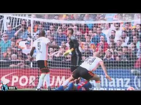 Valencia 2-3 Barcelona 22/10/16 All Goals & Highlights
