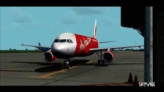 Video MUST WATCH!!! Air Asia A320 Malaysia Spectacular Landing Hanoi International [FS9] MP3, 3GP, MP4, WEBM, AVI, FLV Juli 2018
