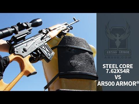 Steel Core 7.62x54R vs. AR500 Armor® Body Armor