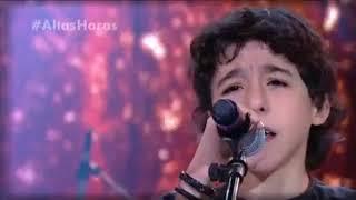 Download Lagu Enzo Rabelo, filho de Bruno, Dupla de Marrone canta no Altas Horas 21/07/2018 Mp3