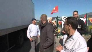 Miramas : action des salariés Sernam