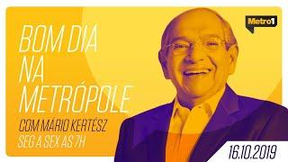 Bom Dia na Metrópole e JB no Ar com Mário Kertész - Rachel Bassan - 16/10/2019