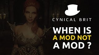 TotalBiscuit brings you a video essay on mods, the recent takedown of OpenIV and the Bethesda Creation Club.Fallout 4 mods: https://www.youtube.com/channel/UCLdPUOIBv-O0mTWtUBaQNtgSkyrim & Fallout mods: https://www.youtube.com/channel/UC4MGZcDG5hnzpi3hDpORkXwForgotten City: https://www.youtube.com/channel/UCmJR6skOBuYS1PtFV0RugbwGTA footage: https://www.youtube.com/user/OfficialNerdCubedDiscuss this video on our official subreddit: http://reddit.com/r/cynicalbritofficialFollow TotalBiscuit on Twitter: http://twitter.com/totalbiscuitFollow CynicalBrit on Twitter for video updates: http://twitter.com/cynicalbritFollow our Facebook page for announcements: http://facebook.com/cynicalbrit
