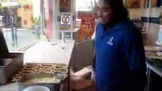 How to make cheese pretzels from Wetzel Pretzel at Citywalk