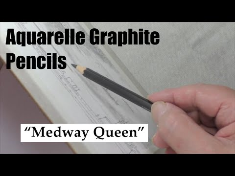Medway Queen in Aquarelle Graphite Pencils
