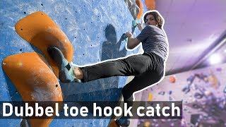 A Sweet Double toe hook catch - Emil making hard things look easy by Eric Karlsson Bouldering