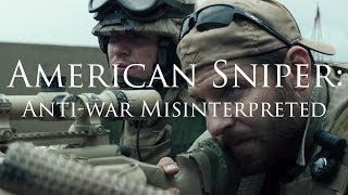 """EDIT: SPANISH SUBTITLES NOW AVAILABLE! Subtítulos en Español ahora disponibles!Hey guys, in this video we delve into a controversial film, American Sniper (2015), and why I think the film has been misinterpreted by partisan audiences...PATREON: https://www.patreon.com/Storytellers1PAYPAL: https://www.paypal.me/storytellers1LITERATURE:- Terministic Screens and Partisan Audiences - Daniel K. Merwin (2016)MUSIC:- Ross Budgen (Royalty Free Music) https://www.youtube.com/channel/UCQKGLOK2FqmVgVwYferltKQ- Clint Mansell Kronos Quartet - Dreams- American Sniper - Funeral- Trent Reznor and Atticus Ross - Like HomeCopyright Disclaimer under section 107 of the Copyright Act 1976, allowance is made for """"fair use"""" for purposes such as criticism, comment, news reporting, teaching, scholarship, education and research.Fair use is a use permitted by copyright statute that might otherwise be infringing."""