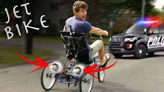 Video DIY JET BIKE GOES WAY TOO FAST - COPS CALLED (Pulled over) MP3, 3GP, MP4, WEBM, AVI, FLV Februari 2019