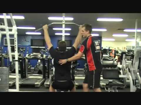 FITCollege - http://www.FitCollege.edu.au/ . Keagan, is one of FIT College Trainers and assessors and today he teaches you how to use the vertical pulling machine (Lat pu...