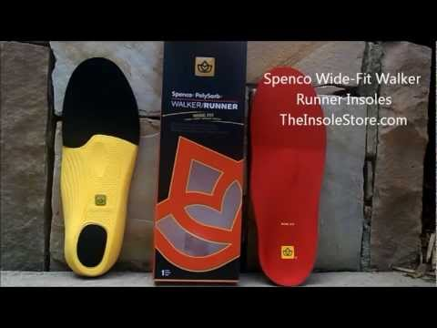Spenco Wide Fit Walker Runner Insoles Review @ TheInsoleStore.com