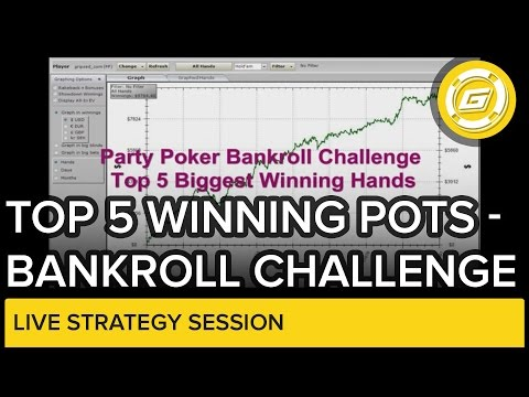 Online Poker – Top 5 Winning Pots – Bankroll Challenge Review