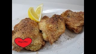 LEMON PEPPER FRIED CHICKEN THIGHS AIR FRYER