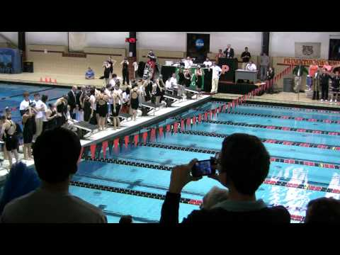 200 Free Relay Walkout 2011 Women's Ivy Champs