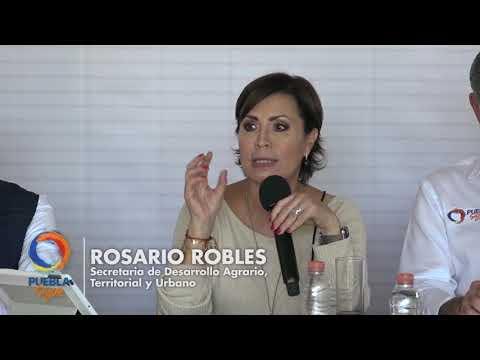 Rosario Robles y Tony Gali evalúan reconstrucción de Puebla