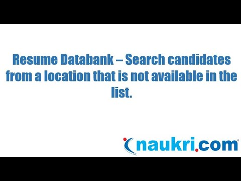 How to search candidates from locations which are not available in the list of Naukri