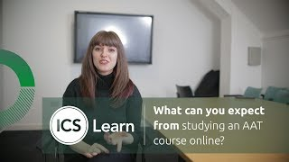 What can you expect from studying an AAT course online?