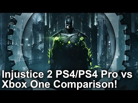 [4K] Injustice 2 PS4/ PS4 Pro vs Xbox One - Graphics Comparison + Frame-Rate Test