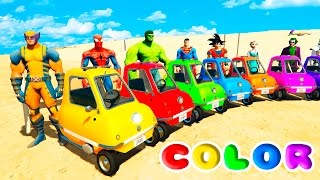 Video FUN LEARN COLORS LITTLE CARS BALL PIT Jumping  w/ SUPERHEROES For Childrean Nursery Rhymes MP3, 3GP, MP4, WEBM, AVI, FLV September 2017