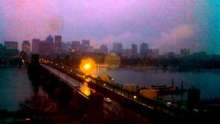 Sunset Time-Lapse Over Longfellow Bridge - Dec 29, 2013