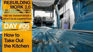 How to Remove the Kitchen from a VW T4