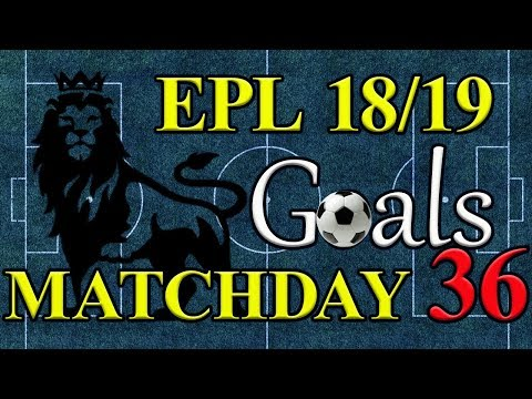 EPL Season 18/19 Matchday 36 Goal Highlights