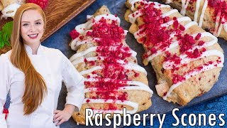 White Chocolate Raspberry Scones by Tatyana's Everyday Food