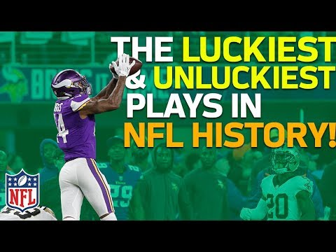 The Luckiest & Unluckiest Plays in NFL History | NFL Highlights (видео)