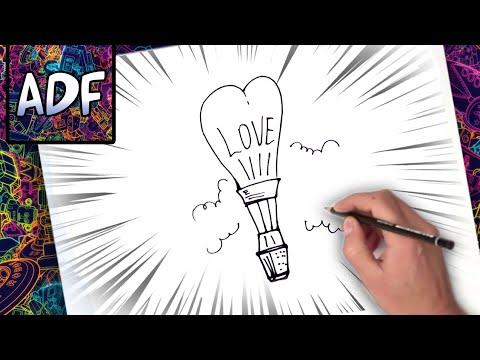Dibujos de amor - COMO DIBUJAR UN GLOBO DE AMOR