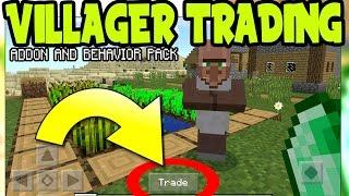 "MCPE ""VILLAGER TRADING"" GAMEPLAY ADDON & BEHAVIOR PACK! Villager Trading - Minecraft Pocket Edition"