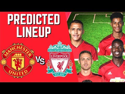 PREDICTED LINEUP - MANCHESTER UNITED VS LIVERPOOL - PREMIER LEAGUE 2018/19!