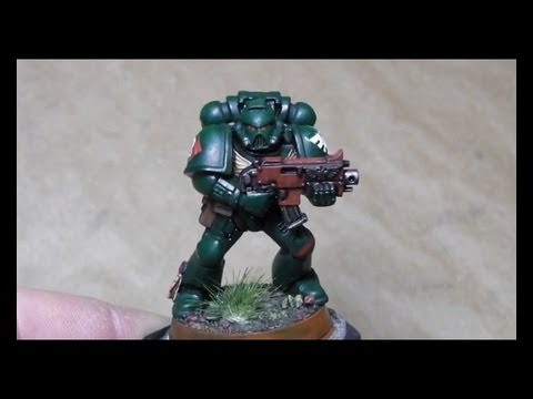 how to paint space marines - In this video i show step by step, how to paint a Dark Angel Space Marine. I use for this a so called
