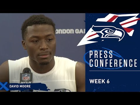 Seahawks Wide Receiver David Moore Postgame Press Conference at Raiders