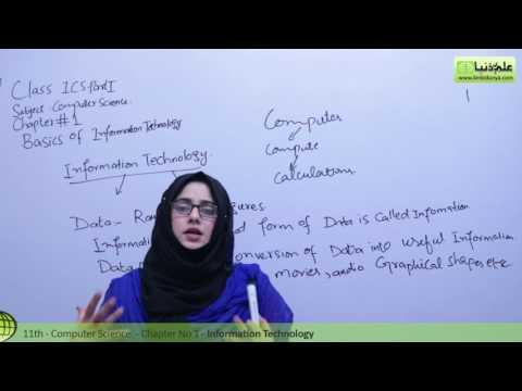 Information Technology - Chapter 1 Basics of Information Technology - ICS/FSC Part 1 11th Class