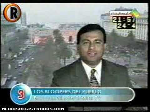 Los bloopers de cronica tv