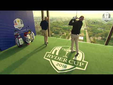Just like Arnold Palmer: Ryder Cup captains tee off Eiffel Tower