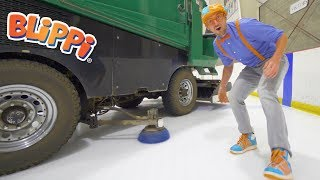 Blippi Learns about the Zamboni and Hockey   Educational Videos for Toddlers